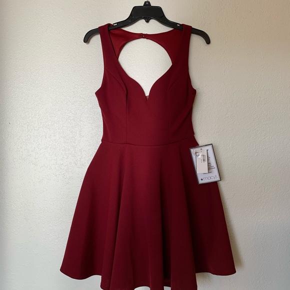 B Darlin Dresses & Skirts - B Darlin Open-Back Fit & Flare Dress